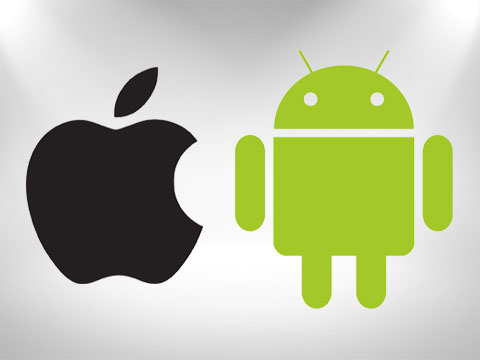 apple and android logo next to each other sharing the limelight