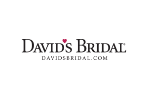 davids bridal logo in black and red