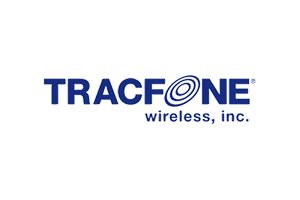 tracfone wireless inc logo in blue