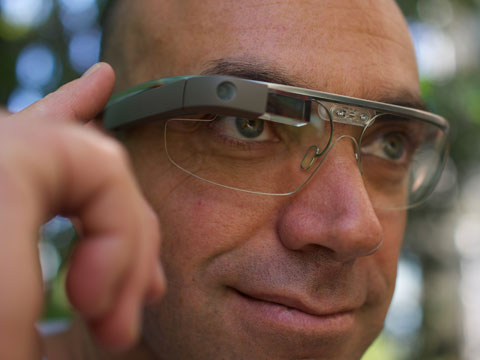 Man with Google Glass